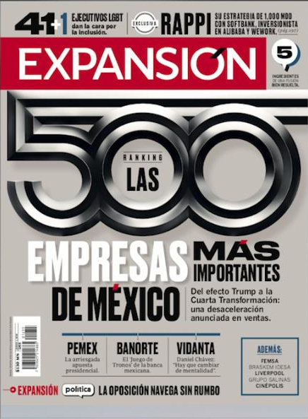 Cuprum among the 500 most important companies in Mexico